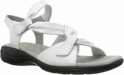Clarks 26134450: Women's Saylie Moon White Leather Sandals