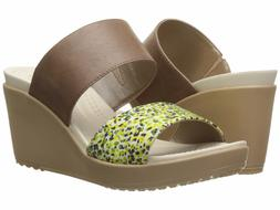 Crocs Women's A-Leigh Wedge Sandal,Cocoa,7 M US