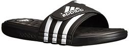 adidas Performance Men's adissage SC Sandal,Black/White/Blac