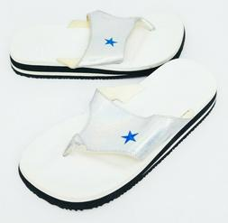 Converse All Star Womens Sandal Slip On Blue Star with Silve