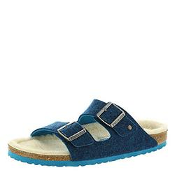 arizona blue wool happy lamb unisex sandals