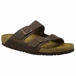 Birkenstock Arizona Habana Womens Leather Two Strap Regular