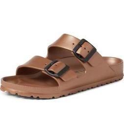 BIRKENSTOCK Arizona Womens METALLIC COPPER EVA Slides Sandal