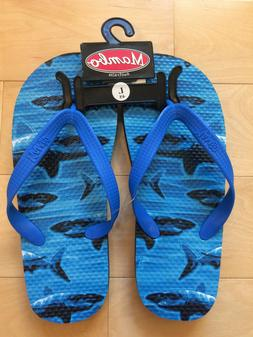 australia boys blue sharks flip flops sandals