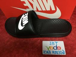 Nike Benassi JDI Men's Slide Black White 343880-090 SZ 7-14