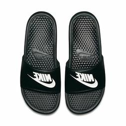 Nike Benassi JDI Men's Slide Black White 343880-090 Free Shi