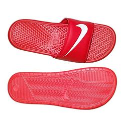 benassi swoosh sandal university red