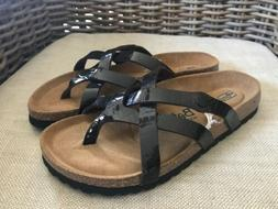Betula By Birkenstock Brown Vinja Crisscross Strappy Flip Fl