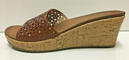 Skechers Beverlee Party Hopper Lux Foam Slip On Cork Wedge S