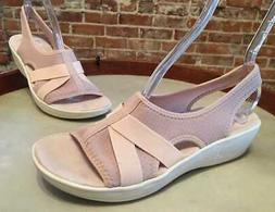 Easy Spirit Blush Pink Maize Slingback Wedge Sandal New