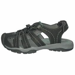 BN EDDIE BAUER Boys Chris Bump Toe Sandal SIZE 2 # BLACK & G