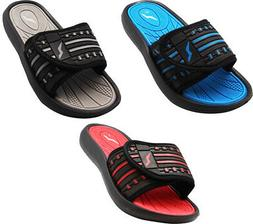 Norty Boy's Summer Comfort Casual Slide Flat Strap Shower Sa