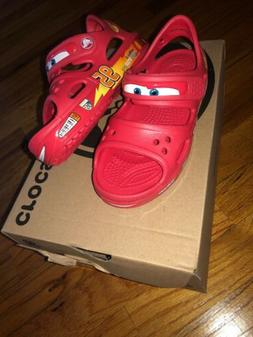 Crocs Boys Cars Sandals Brand new In Box Size 11 -Red