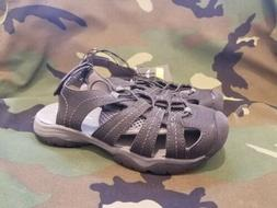 Eddie Bauer Boys Chris Bump Toe Sandal  Black/Grey - Size 2.