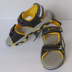 Kamik Boys Size 5 Youth Flounder Sandals Black Yellow Shoes