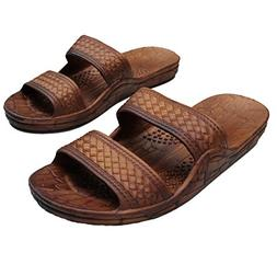 Brown Double Strap Jesus Style Hawaii Sandals. Unisex Sandal