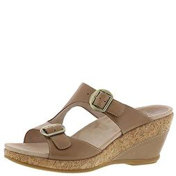 carla leather open toe casual
