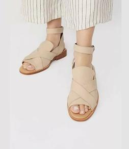 Free People Catalina Sandals Nude size 41 Leather Loafer