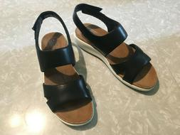 Clarks Unstructured Bali Sling leather sandals, size 9.5