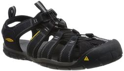 KEEN Men's Clearwater CNX Sandal,Black/Gargoyle,12 M US