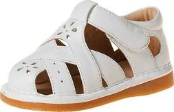 Close Toe White Squeaky Leather Sandals Size 1 2 3 4 5 6 7 R