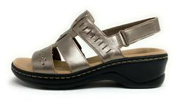 """Clarks Collection Leather Cutout """"Lexi Qwin"""" Sandal  WW Widt"""