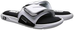 Nike Men's Comfort Slide 2 White/Metallic Silver Black Sanda