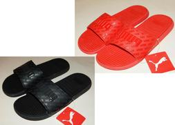 Puma Cool Cat Bold Graphic Men's Slides Red or Black All Ove