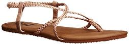Billabong Women's Crossing Over 2 Flat Sandal, Rose Gold/Mul
