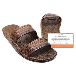 Pali Hawaii Dark Brown JANDAL + Certificate of Authenticity