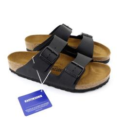 EU39 / L8 / M6 Birkenstock Arizona Sandals, Black, Regular F