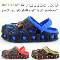 Garden Clogs Shoes For Boys Kids Toddler Slip-On Casual Two-