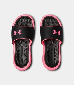 Under Armour Girls' UA Playmaker Fixed Strap Slides Sandals