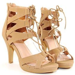 TRENDSup Collection Women Fashion Gladiator Lace Up Sandals