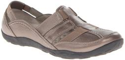 Clarks Women's Haley Stork Pewter Ankle-High Leather Flat Sh