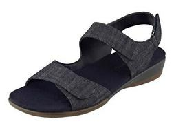 Easy Spirit Hartwell denim sandals fully adjustable blue wed