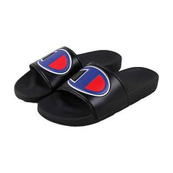 36dc48e84e287 Champion Ipo Mens Black Synthetic Slides Slip On Sandals Sho