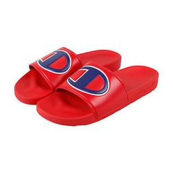 Champion Ipo Mens Red Synthetic Slides Slip On Sandals Shoes