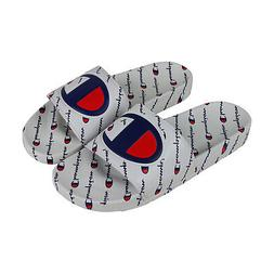 Champion Ipo Repeat Mens White Synthetic Slides Slip On Sand