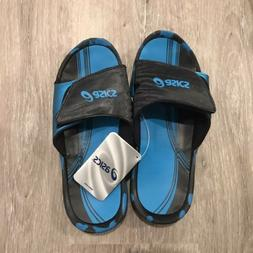 ASICS Men's Iyashi Slide Sandal,Electric Blue/Black,9 M US