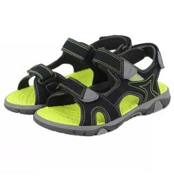 Khombu Kids Boys Black River Sandal W Adjustable Straps