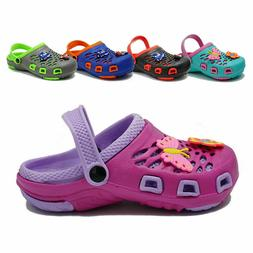 Kids Girls Boys Cute Clogs Summer Cartoon Sandals Slip On Sl