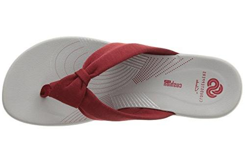 CLARKS Womens Glison H Sandal, 10 US, Red
