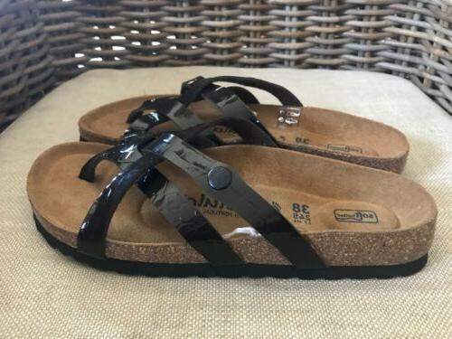 Betula Birkenstock Brown Vinja Strappy Flip NEW