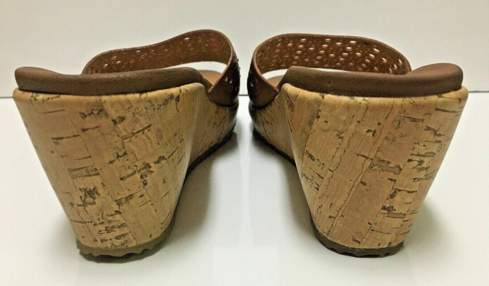 Skechers Beverlee Hopper Lux Foam Slip Cork Wedge Sz