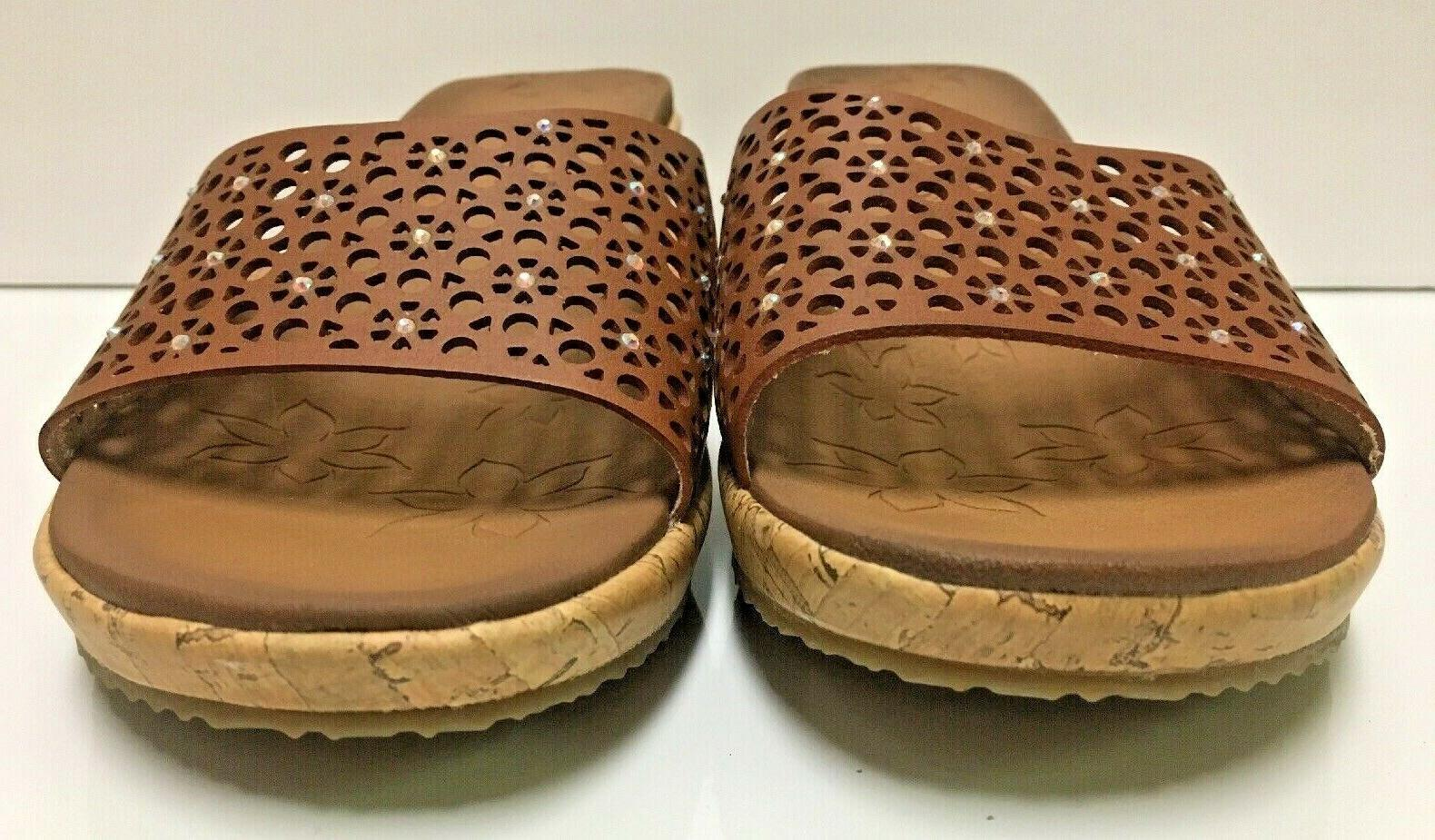 Skechers Party Hopper Lux Foam Cork Sandals Sz