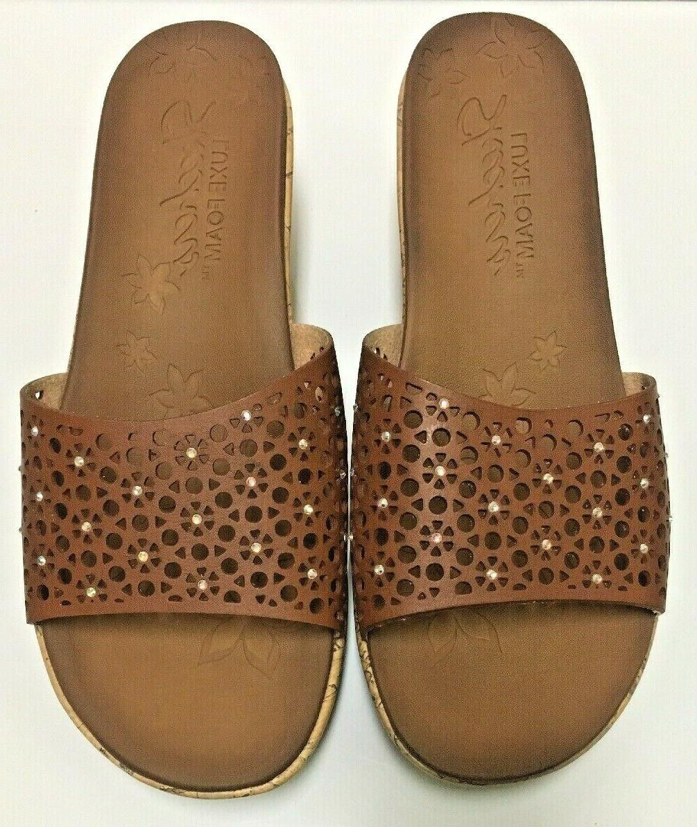 Skechers Beverlee Party Hopper Lux Foam Cork Wedge #38555 Sz