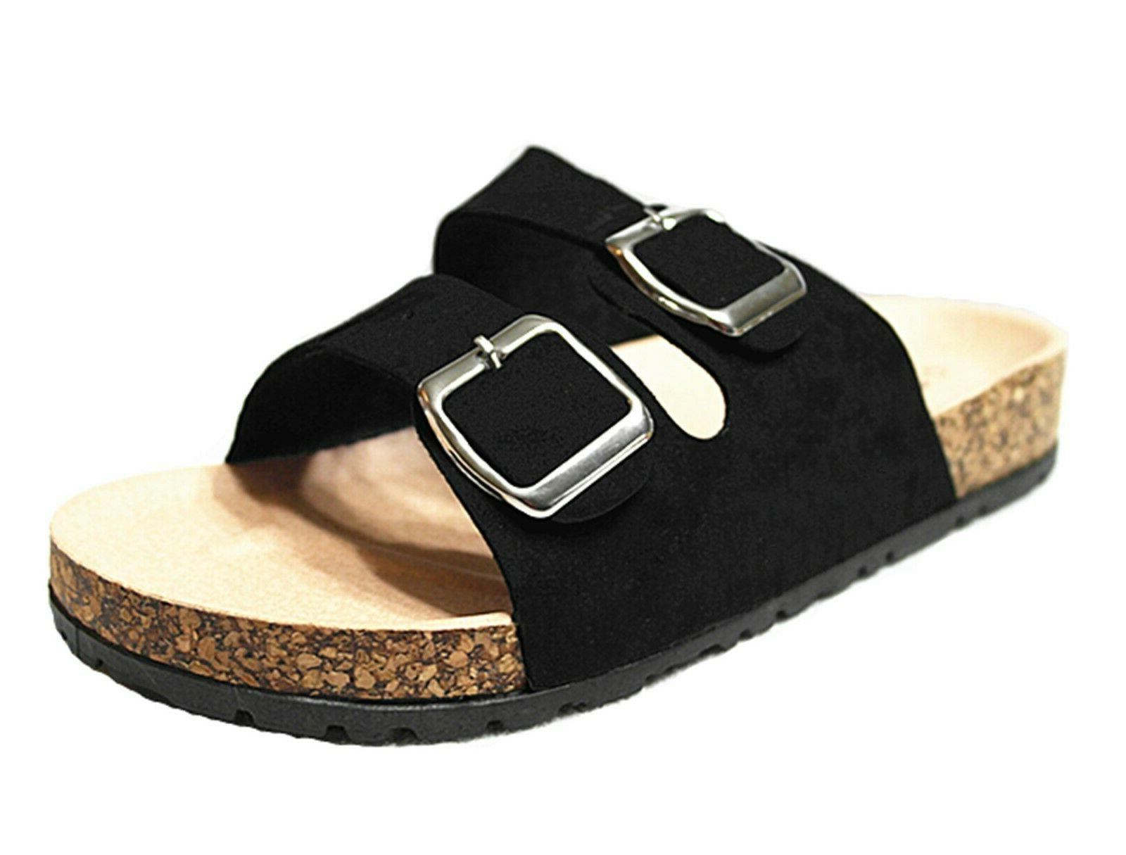 FOREVER Link BIRKEN Womens Glitter Thong Slip On Casual Slid
