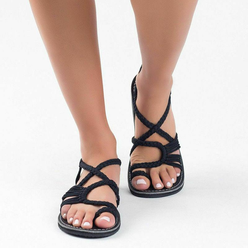 Bohemian Flat Bandages Beach Shoes Summer Casual Sandals