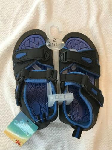 Boys Blue River Water Sandals Small 11/12 Blue And Black New